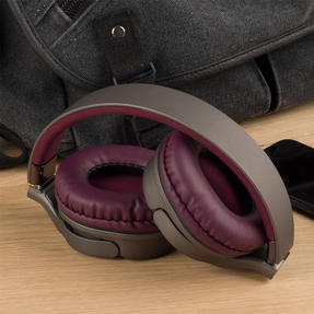 Intempo EE4805BRYSTKEU Opulence WDS25 Wireless Bluetooth Headphones, Gold/Berry Thumbnail 7