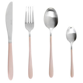 Salter BW08024C 16-Piece Metallic Champagne Cutlery Set, Stainless Steel Thumbnail 1