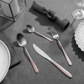 Salter BW08024C 16-Piece Metallic Champagne Cutlery Set, Stainless Steel Thumbnail 3