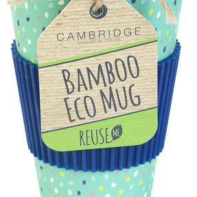 Cambridge COMBO-4974 Bamboo Eco Polka Lunch Box with Speckle 16 oz Bamboo Travel Mug Thumbnail 7