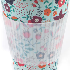Cambridge COMBO-4975 Bamboo Eco Polka Lunch Box with Poppy Flowers 16 oz Bamboo Travel Mug Thumbnail 5