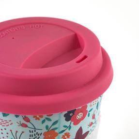 Cambridge COMBO-4975 Bamboo Eco Polka Lunch Box with Poppy Flowers 16 oz Bamboo Travel Mug Thumbnail 8