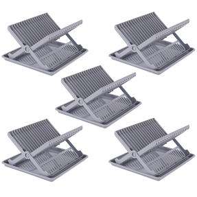 Beldray COMBO-5045 Plastic Dish Drainer with Cutlery Rack, Grey, Set of 5 Thumbnail 1