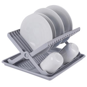 Beldray COMBO-5045 Plastic Dish Drainer with Cutlery Rack, Grey, Set of 5 Thumbnail 7