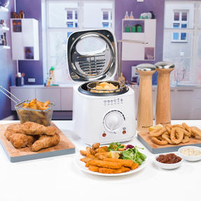 Progress COMBO-5048 Compact Deep Fat Fryer With Removable Cooking Basket, 1 L, 950 W, Set of 2 Thumbnail 3
