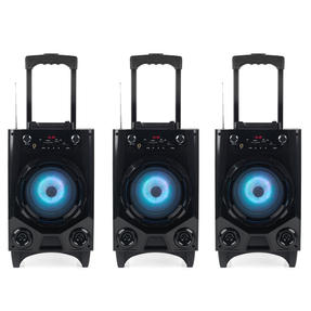Intempo COMBO-5059 Wireless Bluetooth Tailgate Speaker, SD, AUX, USB, Microphone Input for iPhone, iPad, Samsung Galaxy, Android and other Smart USB Devices, Set of 3