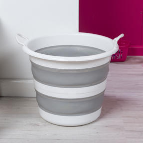 Kleeneze KL065438GRYEU Collapsible Cleaning Bucket, 30 Litre, Grey/White Thumbnail 4