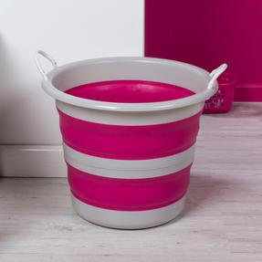 Kleeneze KL065438PNKEU Collapsible Cleaning Bucket, 30 Litre, Pink/Grey Thumbnail 4