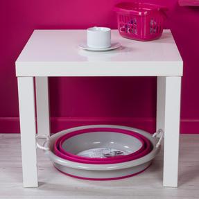 Kleeneze KL065438PNKEU Collapsible Cleaning Bucket, 30 Litre, Pink/Grey Thumbnail 6