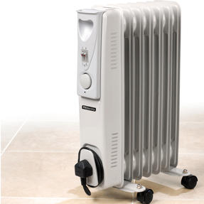 Prolectrix EH0564SPROSTK Portable 7 Fin Oil-Filled Radiator, 1500 W, White Thumbnail 2