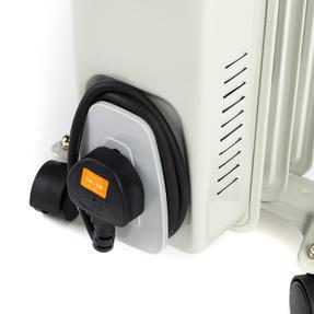 Prolectrix EH0564SPROSTK Portable 7 Fin Oil-Filled Radiator, 1500 W, White Thumbnail 3