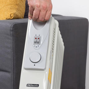 Prolectrix EH0564SPROSTK Portable 7 Fin Oil-Filled Radiator, 1500 W, White Thumbnail 8