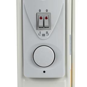 Prolectrix EH0564SPROSTK Portable 7 Fin Oil-Filled Radiator, 1500 W, White Thumbnail 9