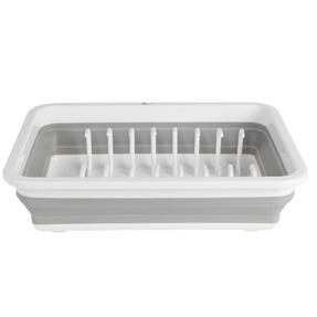 Kleeneze KL065391EU Collapsible Dish Drainer, White/Grey