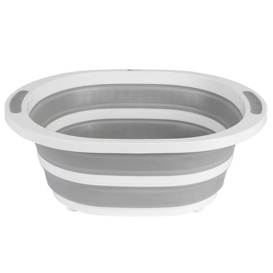 Collapsible Washing Up Bowl, White/Grey