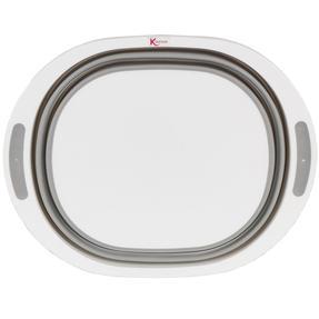 Kleeneze KL065414EU Collapsible Washing Up Bowl, White/Grey Thumbnail 2