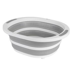 Kleeneze KL065414EU Collapsible Washing Up Bowl, White/Grey Thumbnail 3