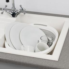 Kleeneze KL065414EU Collapsible Washing Up Bowl, White/Grey Thumbnail 5