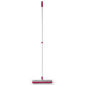 Kleeneze KL065315EU Electrostatic Rubber Head Floor Brush with Squeegee Edge, Pink/Grey
