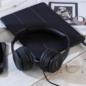 Intempo EE3778BLKSILSTKUK Folding Clarity Headphones, Black Thumbnail 8