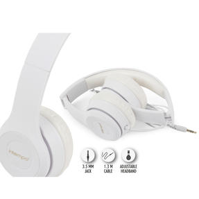 Intempo EE3778WHTGLDSTKUK Clarity Folding Headphones with Adjustable Headband, 3.5 mm Stereo Jack, 1.3 m Cable Length