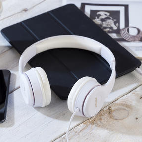 Intempo EE3778WHTGLDSTKUK Clarity Folding Headphones with Adjustable Headband, 3.5 mm Stereo Jack, 1.3 m Cable Length Thumbnail 7