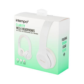 Intempo EE3778WHTGLDSTKUK Folding Clarity Headphones, White Thumbnail 8