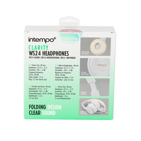 Intempo EE3778WHTGLDSTKUK Folding Clarity Headphones, White Thumbnail 9
