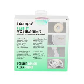 Intempo EE3778WHTGLDSTKUK Clarity Folding Headphones with Adjustable Headband, 3.5 mm Stereo Jack, 1.3 m Cable Length Thumbnail 9