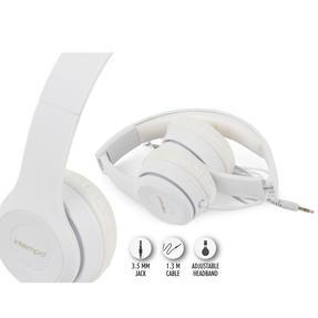 Intempo EE3778WHTGLDSTKUK Clarity Folding Headphones with Adjustable Headband, 3.5 mm Stereo Jack, 1.3 m Cable Length Thumbnail 10