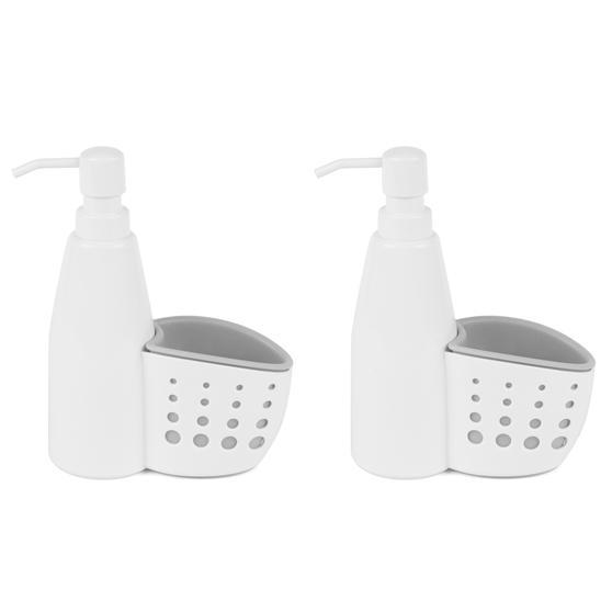 Kitchen Basket with Soap Pump Dispenser, Set of 2