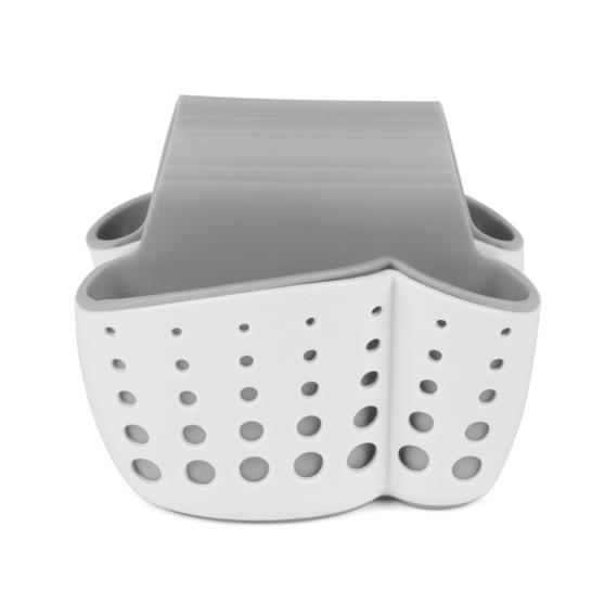 Kitchen Caddy Set with Over Sink Basket and Worktop Basket, 2 Piece, White / Grey   Thumbnail 8