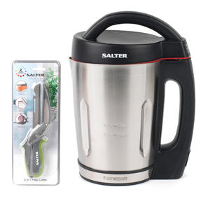 Salter COMBO-4943 Electric Soup Maker with 3 in 1 Prep Cutter, 1.6 Litre, 1000 W Thumbnail 1