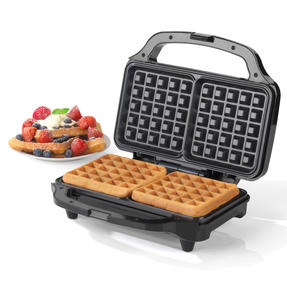 Salter COMBO-4945 Deep Fill Waffle Maker with 3 in 1 Chopper, Whisk and Blender Set, 900 W/350 W Thumbnail 2