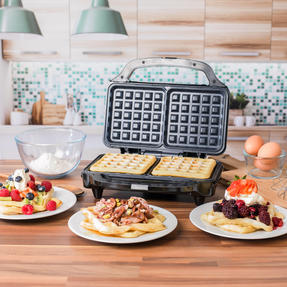 Salter COMBO-4945 Deep Fill Waffle Maker with 3 in 1 Chopper, Whisk and Blender Set, 900 W/350 W Thumbnail 7