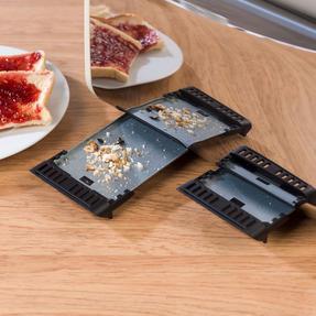Salter COMBO-3843 Diamond 4-Slice Toaster & 1.8 L Pyramid Kettle, Cream Thumbnail 8
