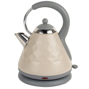 Salter COMBO-3844 Diamond 2-Slice Toaster & 1.8 L Pyramid Kettle, Grey Thumbnail 3