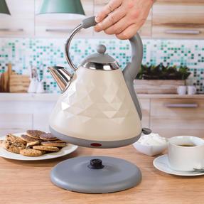 Salter COMBO-3845 Naturals 4-Slice Toaster & 1.8 L Pyramid Kettle, Stone Thumbnail 6