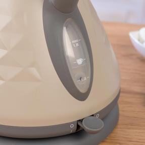 Salter COMBO-3845 Naturals 4-Slice Toaster & 1.8 L Pyramid Kettle, Stone Thumbnail 8