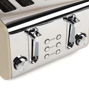 Salter COMBO-3845 Diamond 4-Slice Toaster & 1.8 L Pyramid Kettle, Grey Thumbnail 9