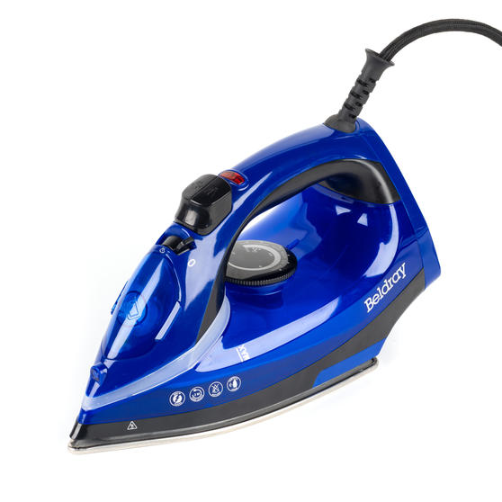 Beldray 2000 W Steam Iron with Variable Temperature Control, Blue