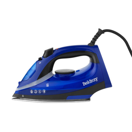 Beldray 2000 W Steam Iron with Variable Temperature Control, Blue Thumbnail 3