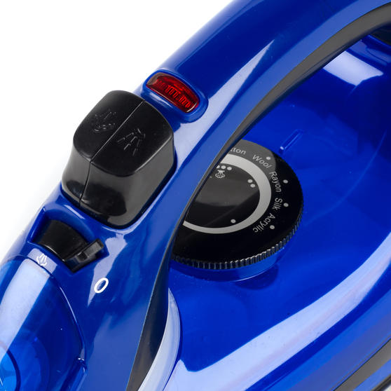 Beldray 2000 W Steam Iron with Variable Temperature Control, Blue Thumbnail 4