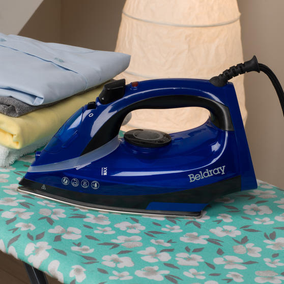 Beldray 2000 W Steam Iron with Variable Temperature Control, Blue Thumbnail 6