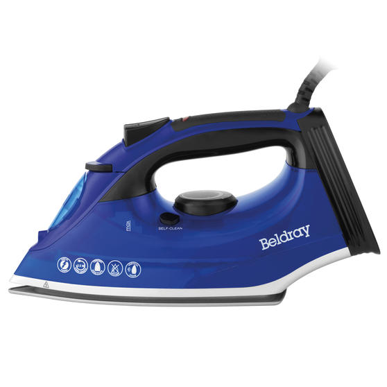 Beldray 2200W Steam Iron with 320 ml water tank, Blue Thumbnail 3