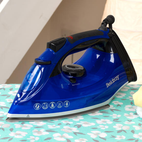 Beldray 2200W Steam Iron with 320 ml water tank, Blue Thumbnail 7
