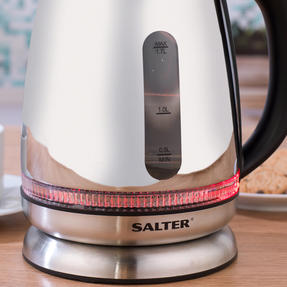 Salter Mirror Finish Glass Kettle with LED Illumination, 1.7 L, 2200 W Thumbnail 7