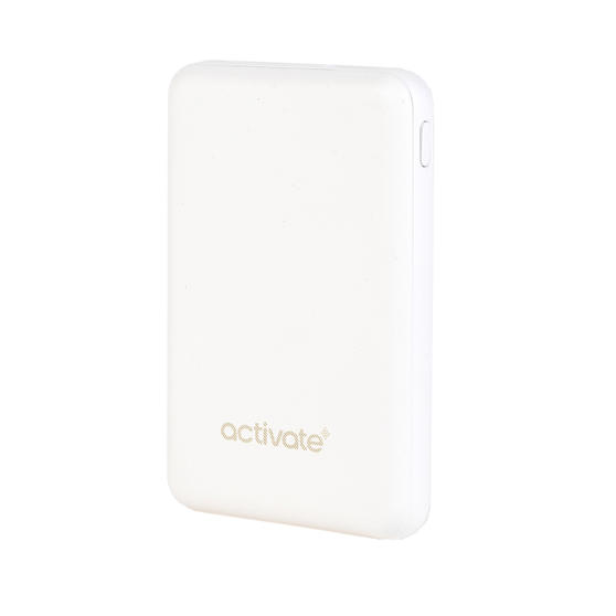 Activate EE4485WHTSTKEU Mini Portable Charger Power Bank, 10000 mAh, White