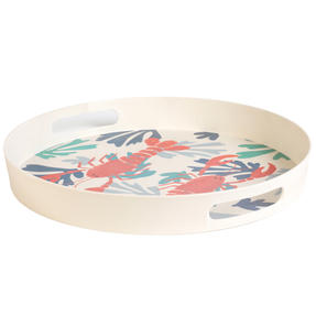 Cambridge CM06559TK Lobster Large Round Reusable Tray With Handles, 38 cm | Perfect for Serving Drinks at Parties Thumbnail 2