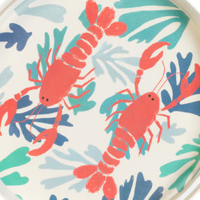 Cambridge CM06559TK Lobster Large Round Reusable Tray With Handles, 38 cm | Perfect for Serving Drinks at Parties Thumbnail 4